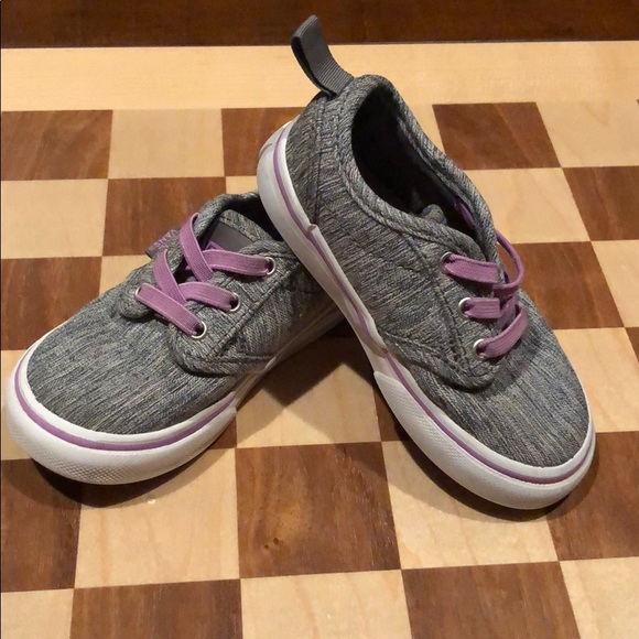 e99e5a2921 Grey   Purple Toddler Vans Slip-On Sneakers 6. M 5aa1f2619a94552a98ef5303